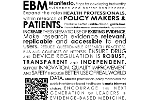 Il manifesto EBM per migliorare l'assistenza sanitaria